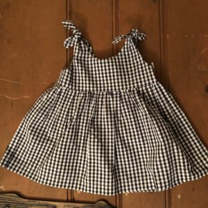 black and white check sundress